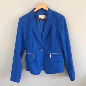 Michael Kors blue blazer with silver detailing